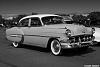 1954 Chevy Bel Air in B/W, Sepia and color versions