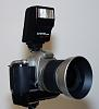 Pentax ZX-7 with FG battery grip, FA 28-80mm F/3.5-5.6 AL and flash (Worldwide
