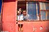 My kids in al old locomotive