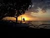 Boy on Boat at Sunset on Bali
