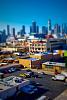 Los Angeles tilt shift effect