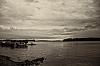 B&W - Lake Waconia before the Storm