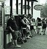 dinner queue..