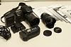 Pentax K20D + 2 lenses + 3batteries + grip + remote