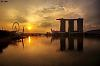 The golden sun @Marina Bay Sands