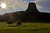 Spring Evening at Devils Tower