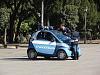 Polizia in Smart in Rome