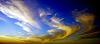 Strange cloud formation at sunset