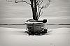 a skiff in winter...