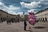 Turin, with balloons
