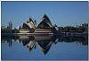 Sydney Opera House on a still day