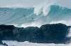 Big wave surfing action from Waimea Bay, Hawaii on 1/23/2014