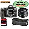Pentax K-3 w/ FREE grip + 50mm lens is back!