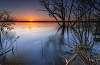 Ottawa river spring sunset