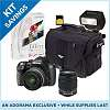 Pentax K-50 + 18-55mm WR + 50-200mm WR, Flash, Bag, SD Card: $599
