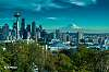 Downtown Seattle and Mount Rainier