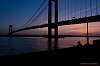 Fishing near the Verrazano-Narrows Bridge.