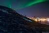 aurora and cityscape