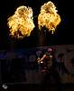 Fire Staff Spin Off at Astral Harvest Festival in Alberta Canada