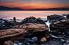 Rocks, sea, horizon...