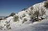 Cabañas de pastores en invierno