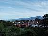 Mountains through the town ...