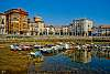 Reflection in the fishing port of Castro Urdiales