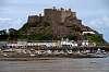Gorey pier & Mount Orgueil castle