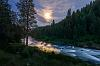 Perpendicular direction: Payette River & Clouds