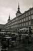 Rain over Madrid's main square
