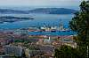 Toulon's Navy base from Faron's tops