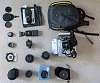 Pentax K-x, Bower 14mm f2.8, Vivitar 28mm f2, Vanguard Ballhead, Bolt Flash, +more