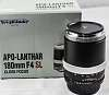 "Voigtlander 180/F4 APO-Lanthar ""Close Focus"" Lens"