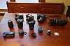 Spotmatic SP1000 w/35-70 $40, Nikon FG20 w/28 f/2.8 $60,  never used DGB5 $120