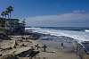 La Jolla House and Surfers