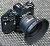 FA 20 / 2.8 full frame lens in box and optional dedicated MH-RB67 hood with case