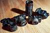Pentax Q7 and Q, 01, 02, and 06 lenses, Pentax Adapter Q, AF200 flash