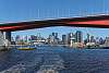 Melbourne framed by the Bolte bridge