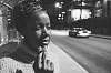 Smoking (black and white street portrait)