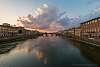 Sunset on Arno River