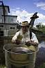 Gold panning in Alaska (Gold Dredge no. 8)