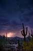 Lightning Behind the Saguaro