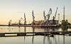 riga port in evening