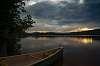 Sunset over Grand lake, Algonquin park