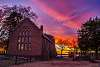 Sunset on the Memorial Church at Historic Jamestown