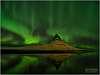 Northern lights over Kirkjufells, Iceland