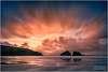 Holywell Bay, Cornwall, at sunset