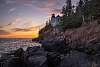 Sunset at  Bass Harbor Head Lighthouse