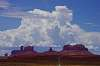 Thunderclouds above Monument Valley and Utah SR 163.