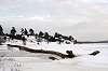 The Volga river winter landscape